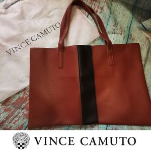"🆕 VINCE CAMUTO vegan leather slim ""LUCK"" tote"